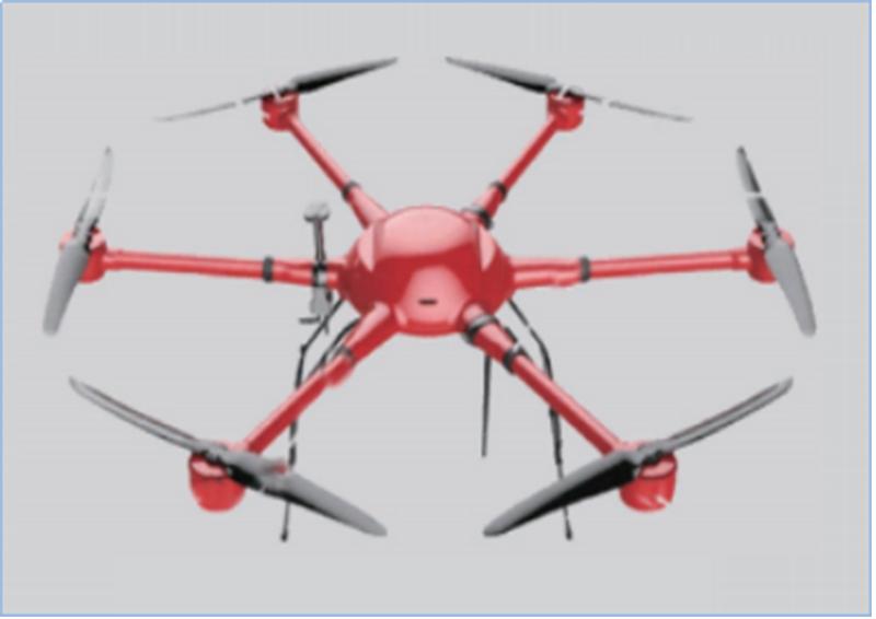 BA-WRJ-L6-1550  Lithium battery six-rotor UAV during long voyage